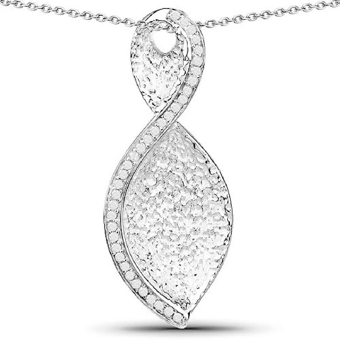 0.32 Carat Genuine White Diamond .925 Sterling Silver P