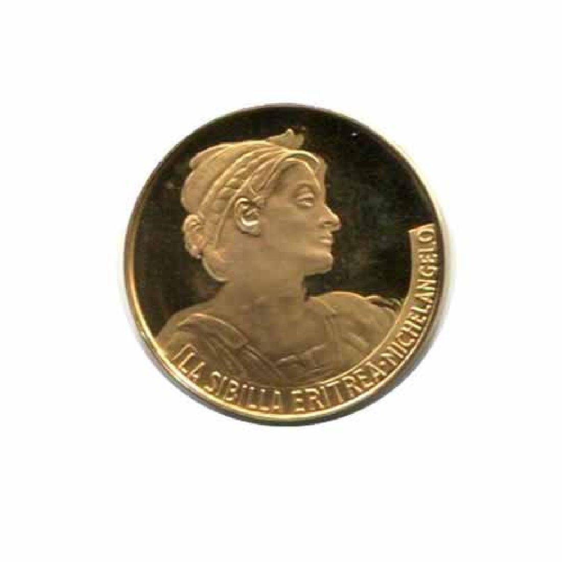 Great Works of the Past gold art medal 6.0 g. PF La Sib