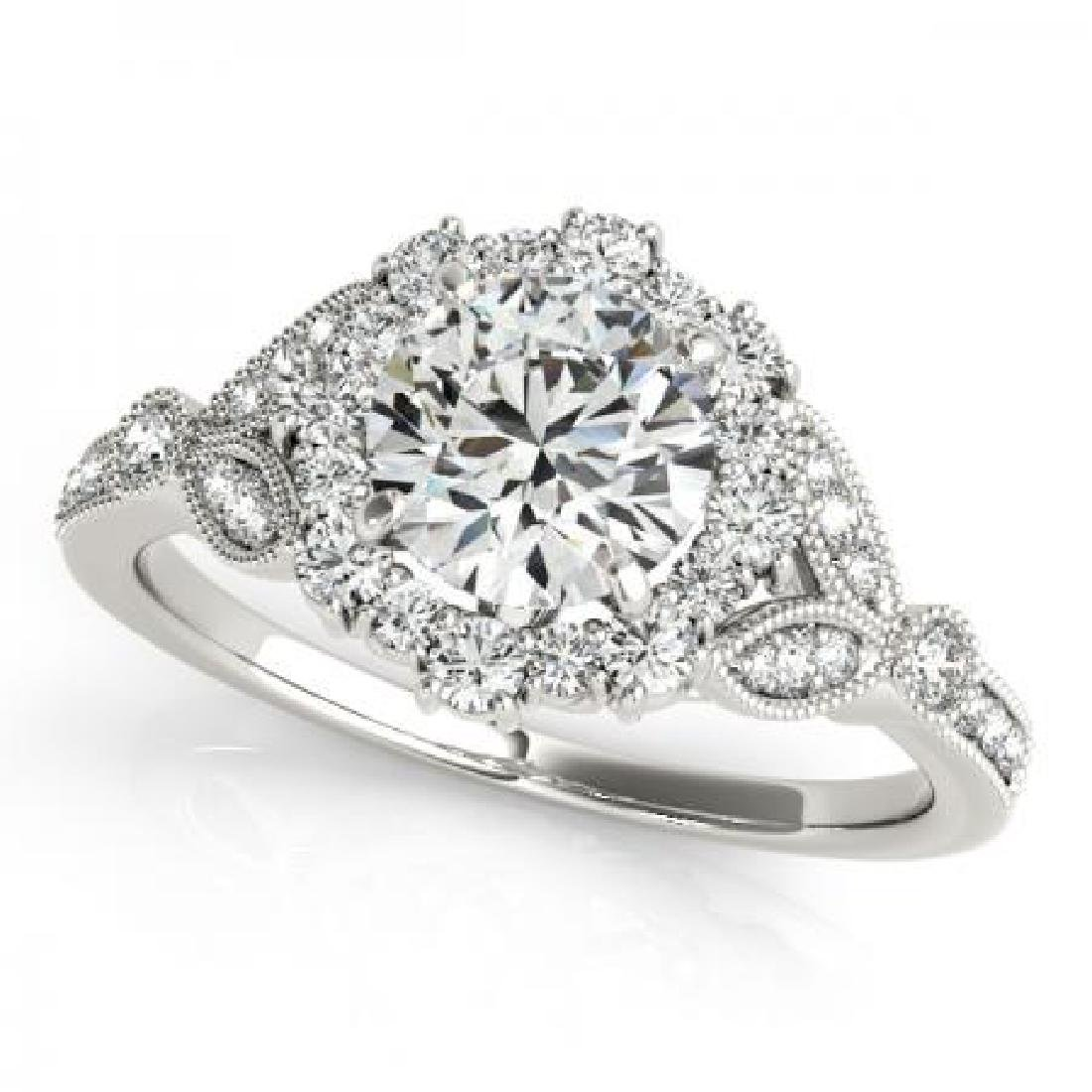 CERTIFIED PLATINUM 1.13 CT G-H/VS-SI1 DIAMOND HALO ENGA