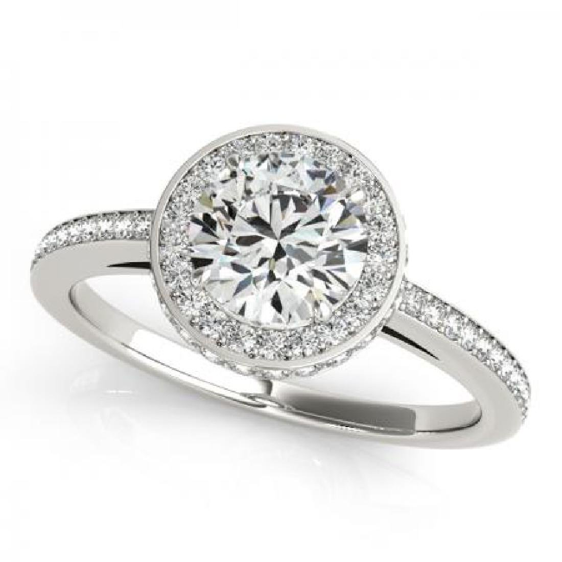 CERTIFIED PLATINUM 1.46 CT G-H/VS-SI1 DIAMOND HALO ENGA