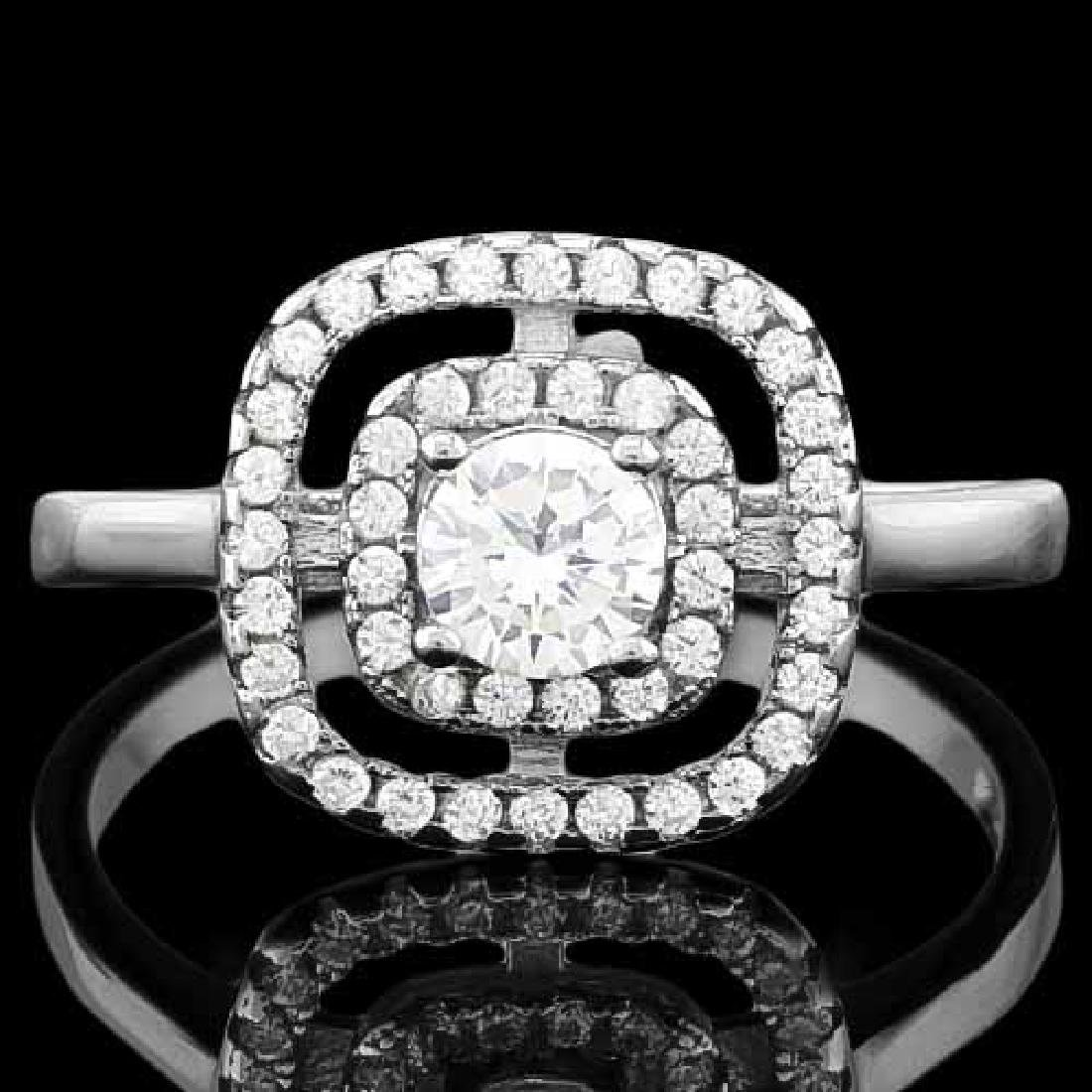 1 CARAT (45 PCS) FLAWLESS CREATED DIAMOND 925 STERLING