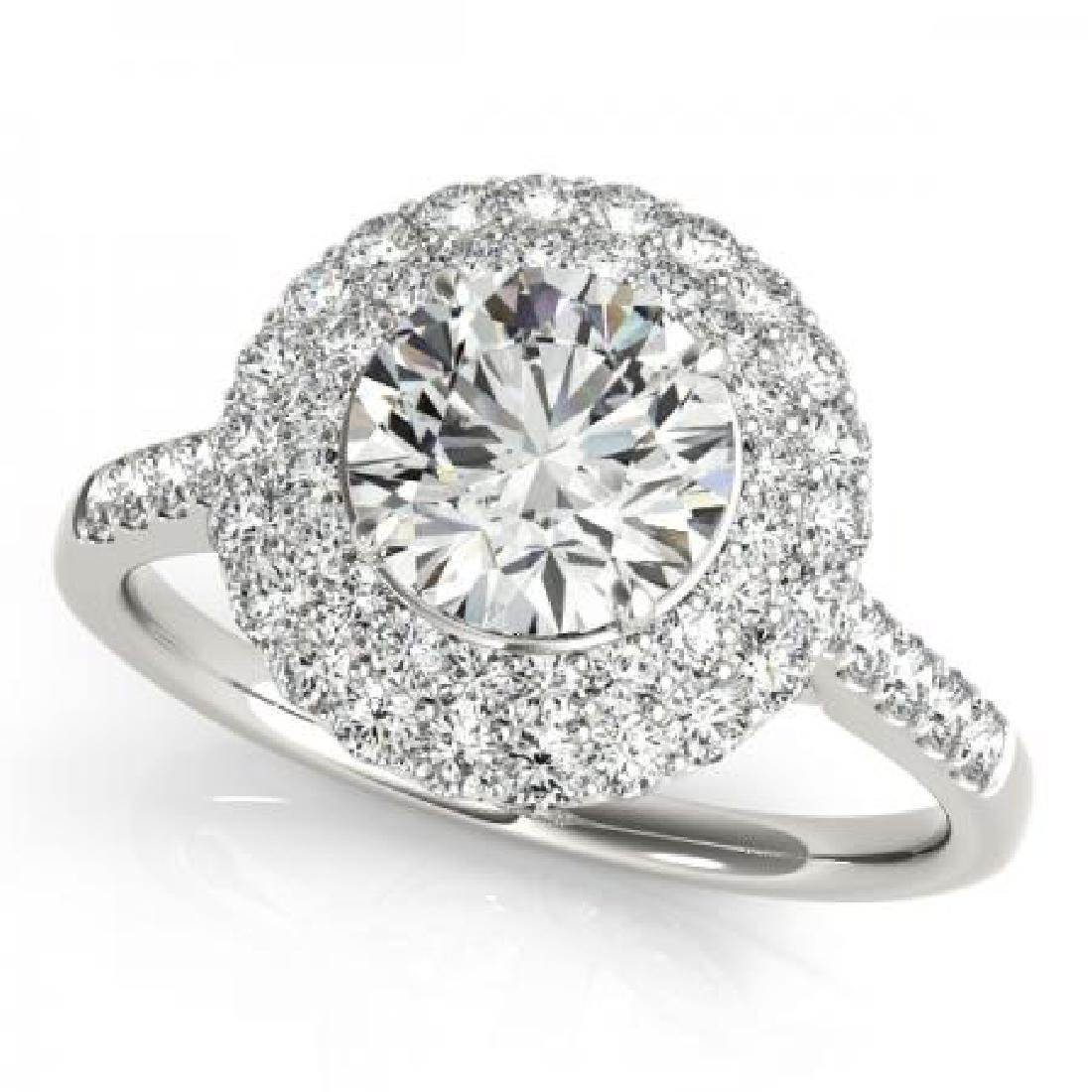 CERTIFIED PLATINUM 1.30 CT G-H/VS-SI1 DIAMOND HALO ENGA