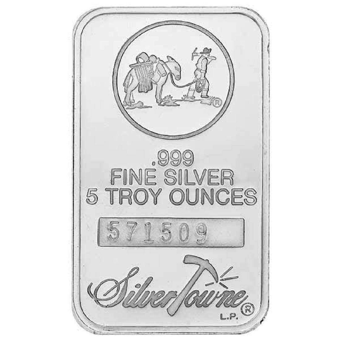 SilverTowne 5 oz Silver Bar - Prospector Design