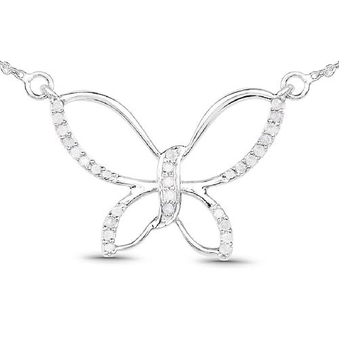 0.27 Carat Genuine White Diamond .925 Sterling Silver P