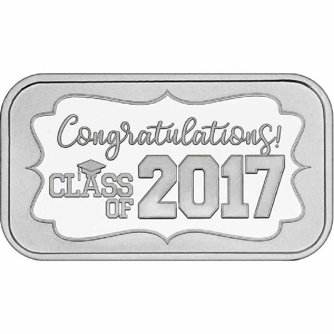 Congratulations Class Of 2017 .999 Silver 1 oz Bar
