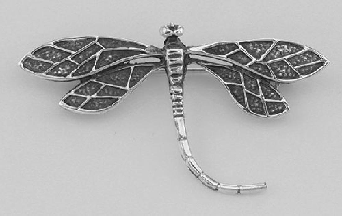 Dragonfly Pin - Sterling Silver