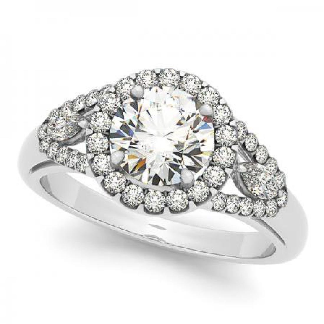 CERTIFIED PLATINUM 2.21 CT G-H/VS-SI1 DIAMOND HALO ENGA