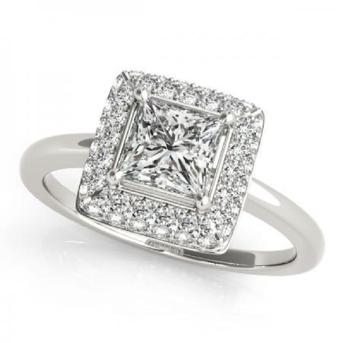 CERTIFIED PLATINUM 1.22 CT G-H/VS-SI1 DIAMOND HALO ENGA