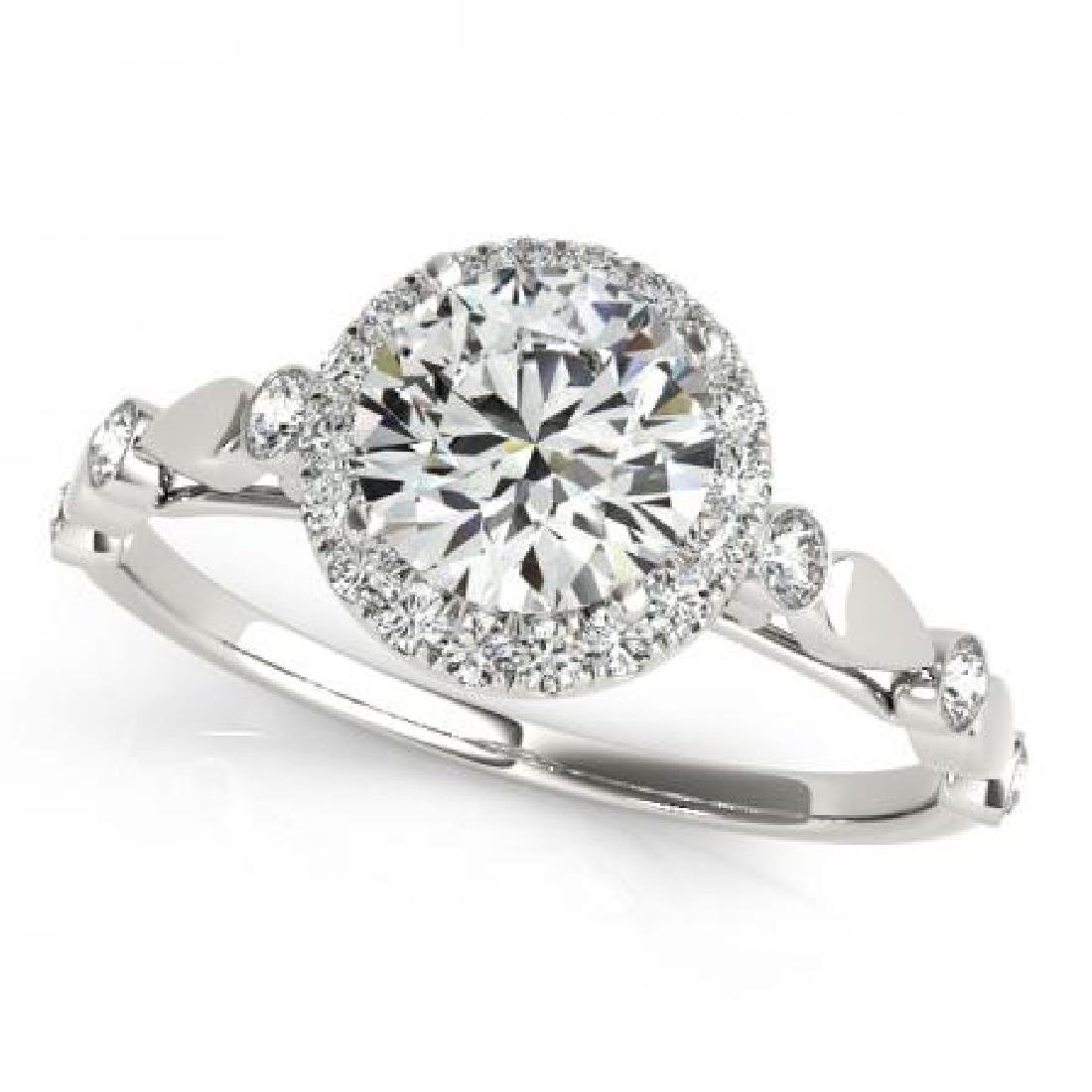 CERTIFIED PLATINUM 1.56 CT G-H/VS-SI1 DIAMOND HALO ENGA