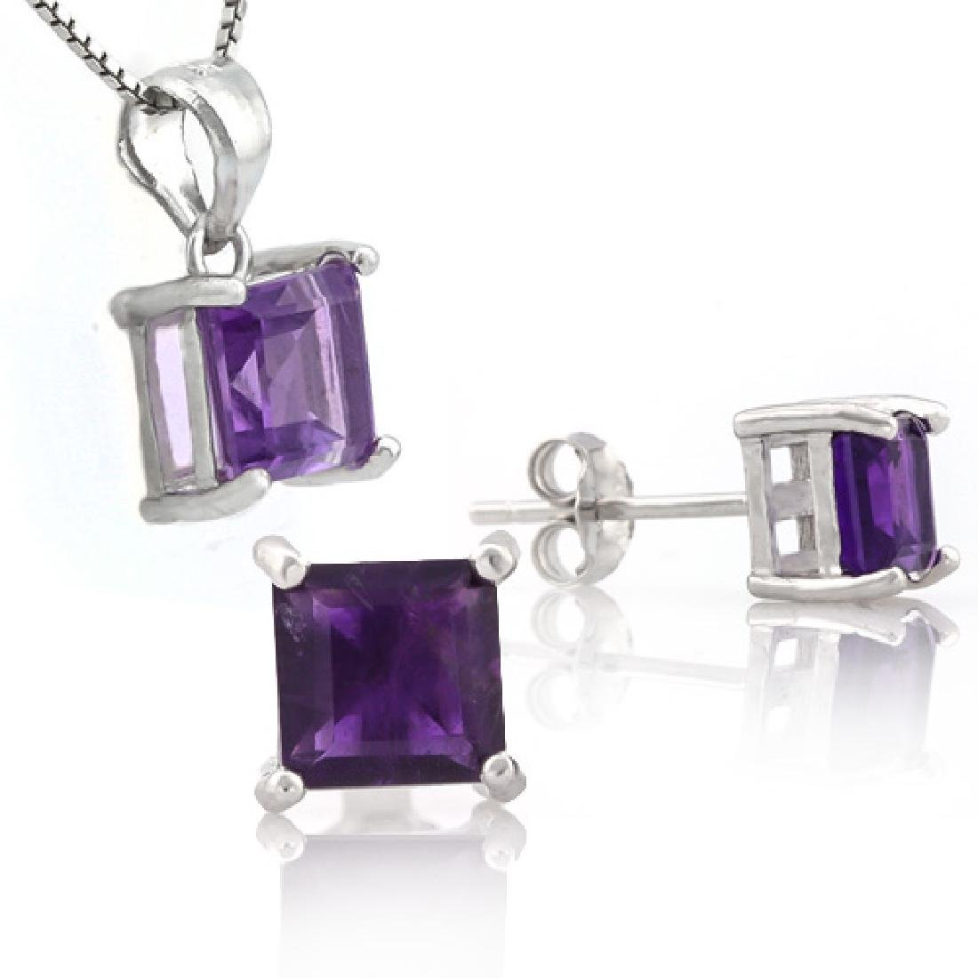 2 1/4 CARAT AMETHYSTS 925 STERLING SILVER