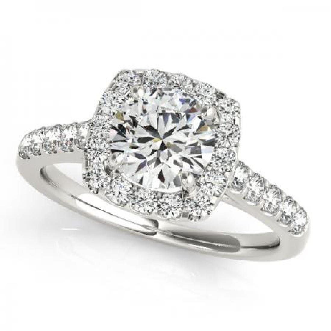 CERTIFIED PLATINUM 1.17 CT G-H/VS-SI1 DIAMOND HALO ENGA