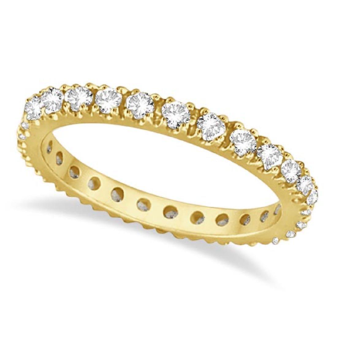Diamond Eternity Stackable Ring Wedding Band 14K Yellow