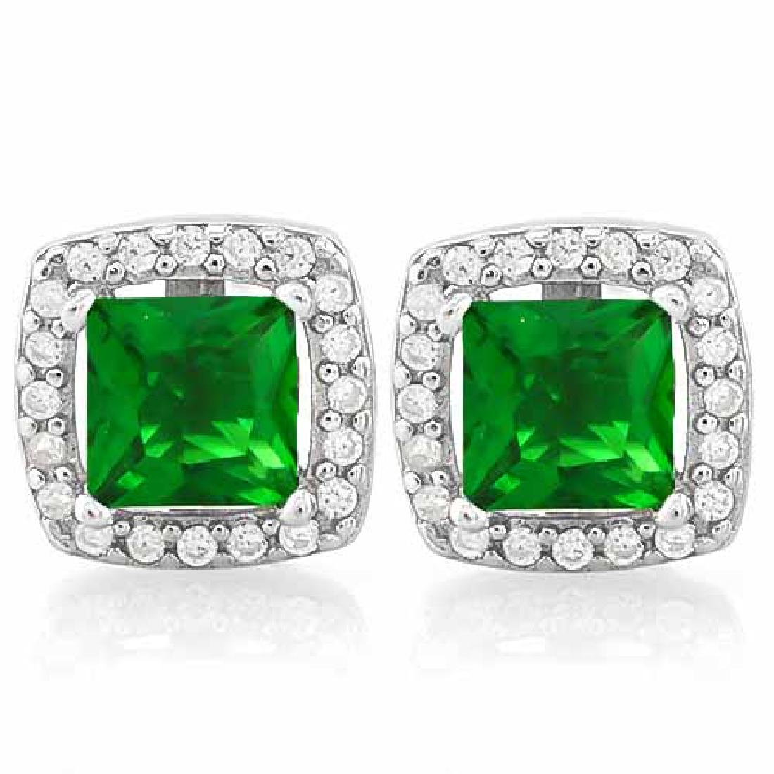 3 CARAT CREATED EMERALD & 4 CARAT (40 PCS) FLAWLESS CRE