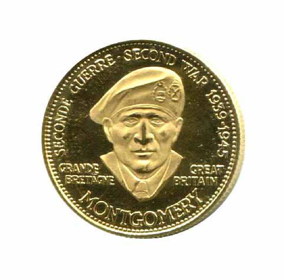 WWII Commemorative Proof Gold Medal 7g. 1958 Montgomery