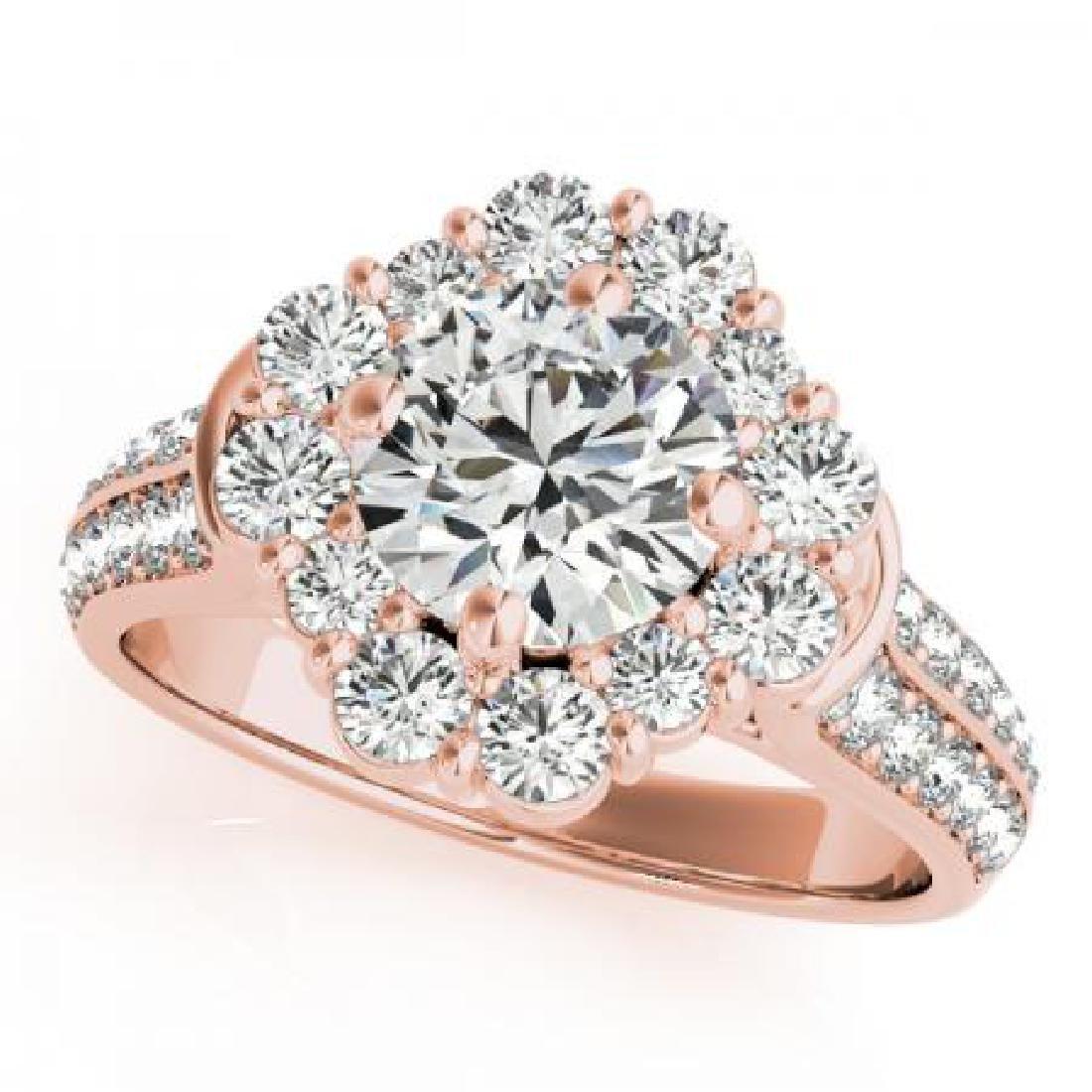 CERTIFIED 18KT ROSE GOLD 1.74 CT G-H/VS-SI1 DIAMOND HAL