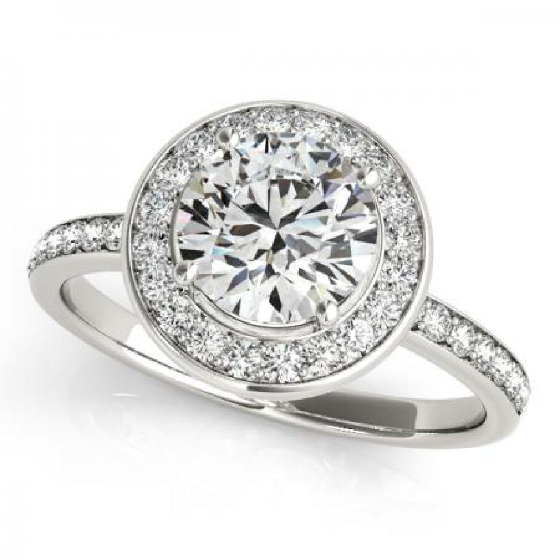 CERTIFIED PLATINUM 1.54 CT G-H/VS-SI1 DIAMOND HALO ENGA