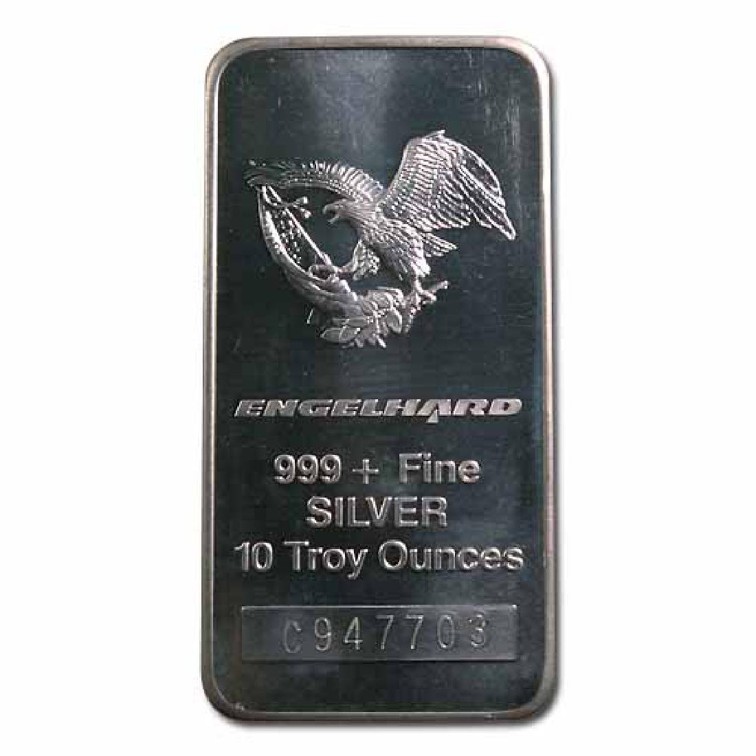 Engelhard Silver Bar 10 oz Bar - Tall Eagle