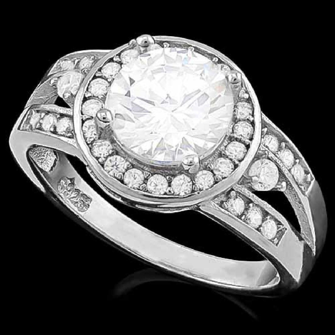 2 1/3 CARAT (35 PCS) FLAWLESS CREATED DIAMOND 925 STERL