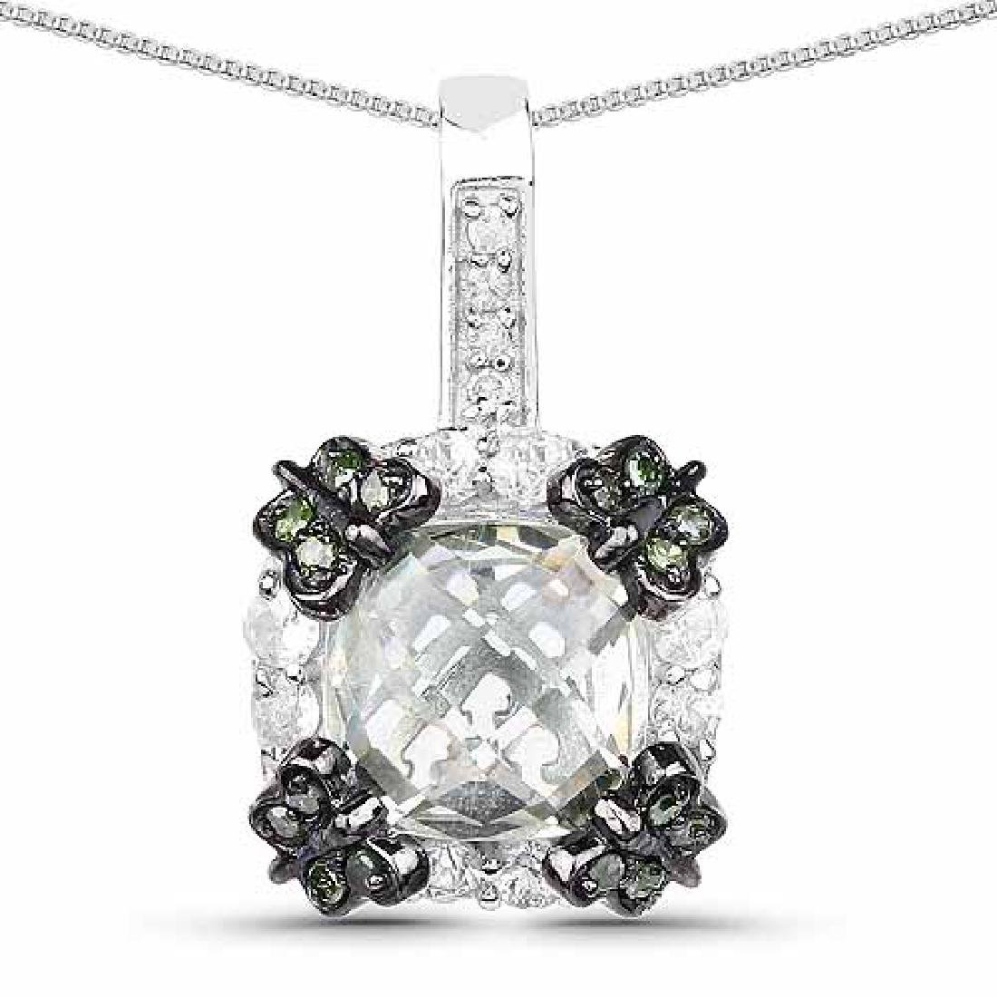 2.72 Carat Genuine Multi Stones .925 Sterling Silver Pe