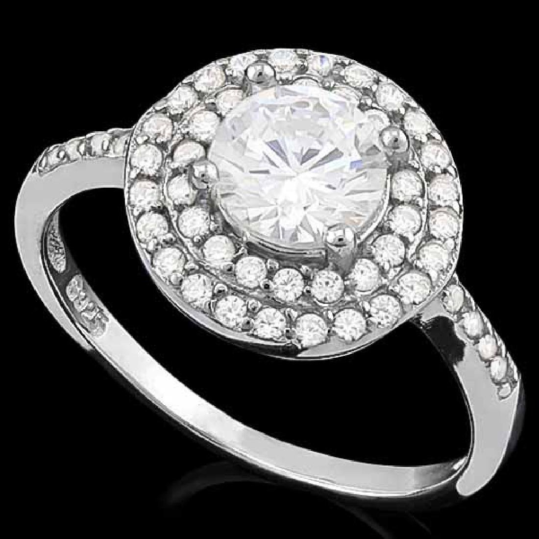 1 3/4 CARAT (48 PCS) FLAWLESS CREATED DIAMOND 925 STERL