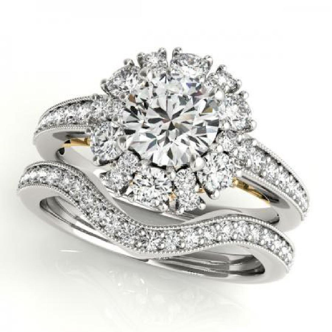 CERTIFIED 18KT TWO TONE GOLD 1.09 CT G-H/VS-SI1 DIAMOND