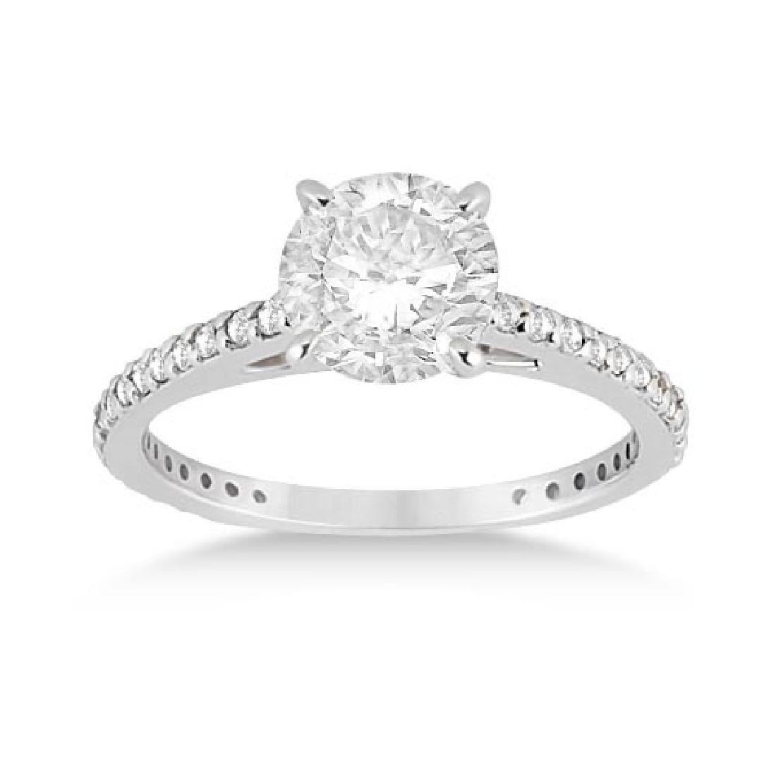 Petite Eternity Diamond Engagement Ring Platinum (1.55c