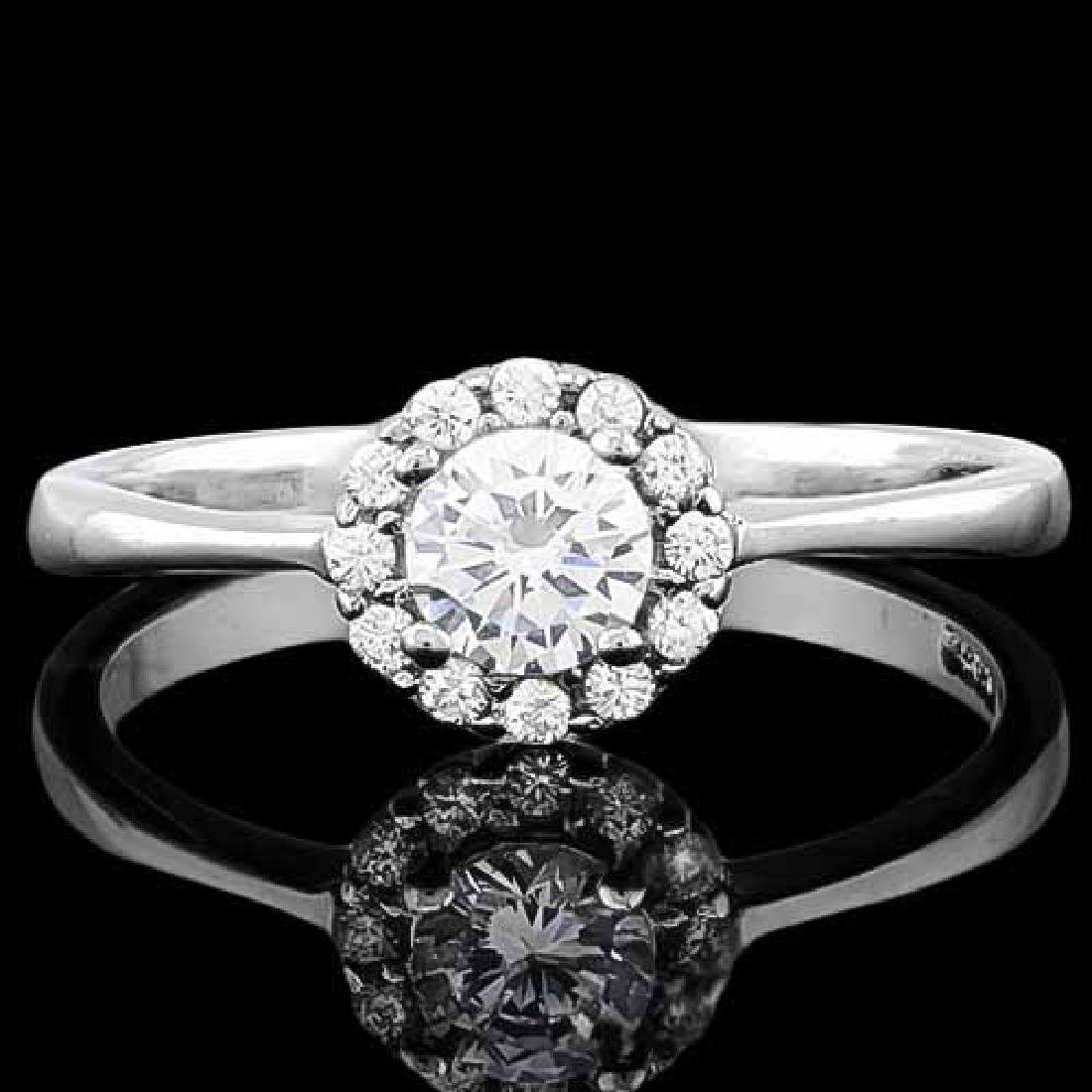 3/5 CARAT (13 PCS) FLAWLESS CREATED DIAMOND 925 STERLIN