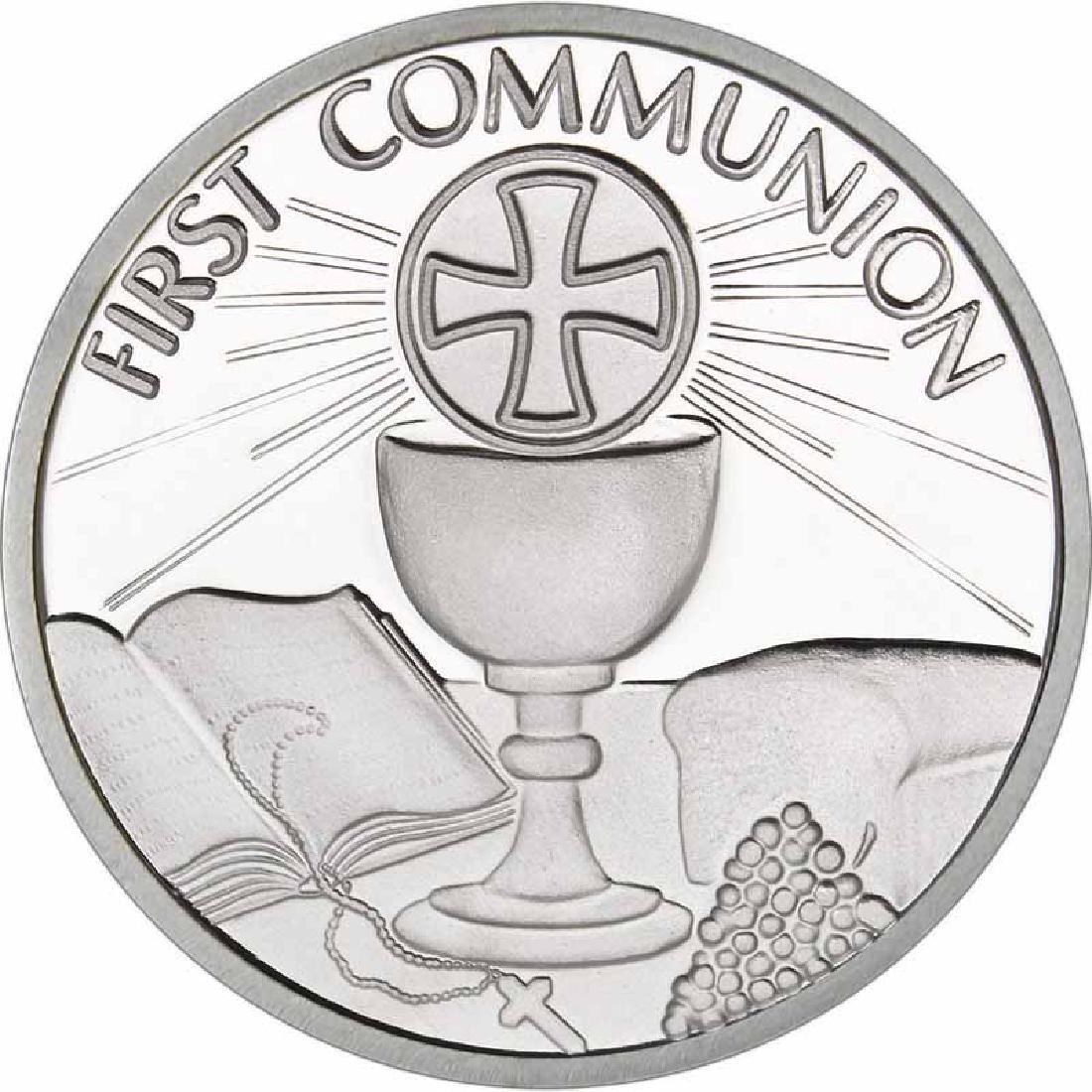 First Communion .999 Silver 1 oz Round