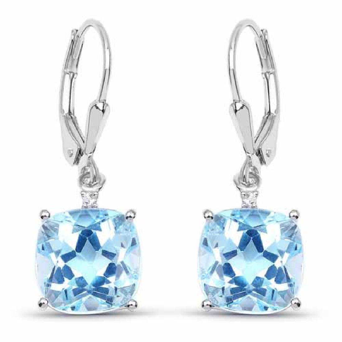 8.83 Carat Genuine Blue Topaz and White Topaz .925 Ster