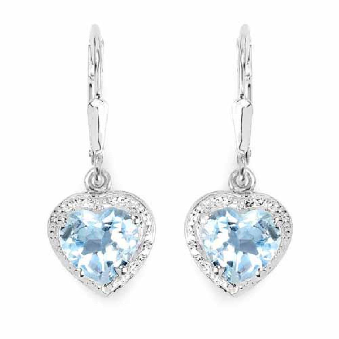 4.00 Carat Genuine Blue Topaz .925 Sterling Silver Earr