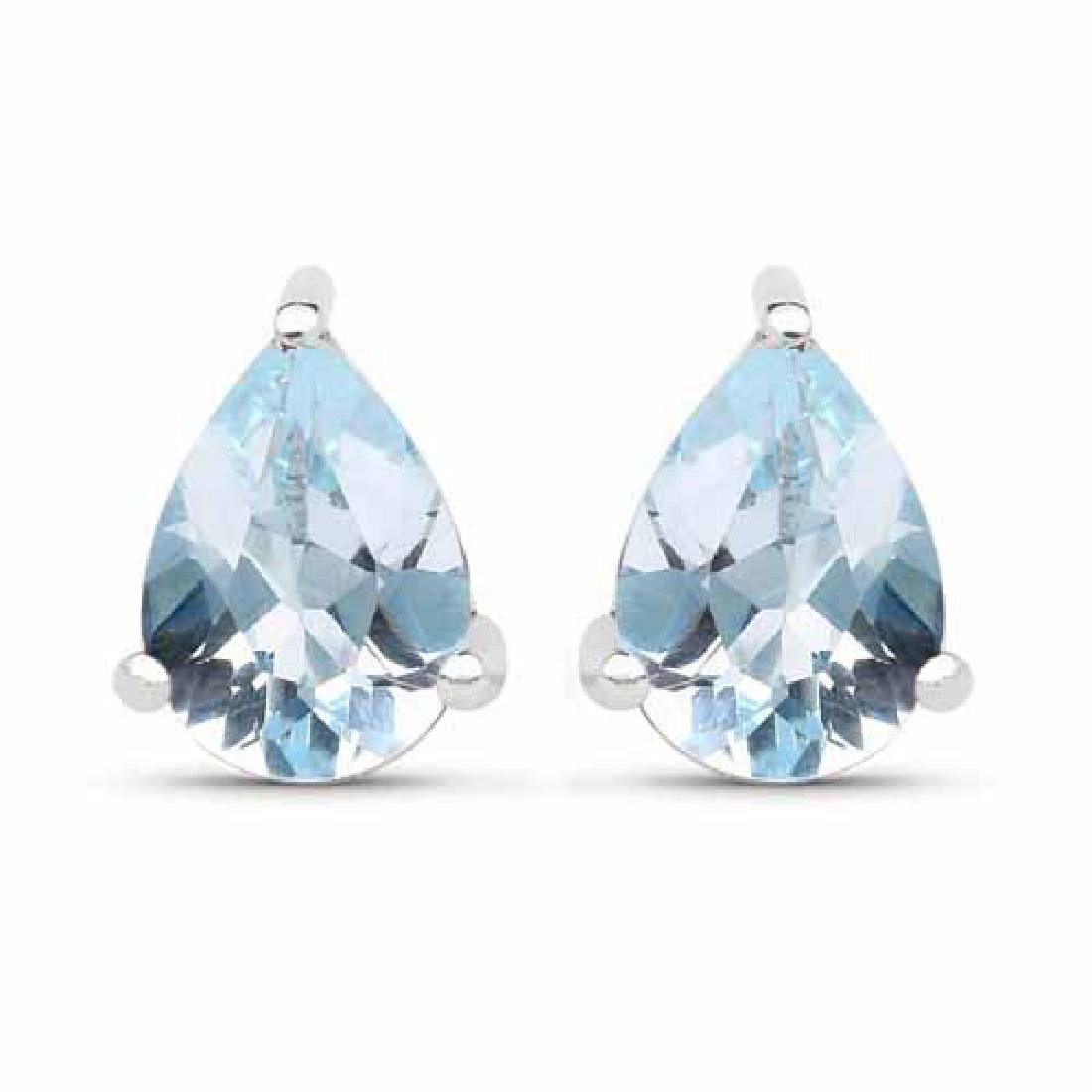 1.64 Carat Genuine Blue Topaz .925 Sterling Silver Earr