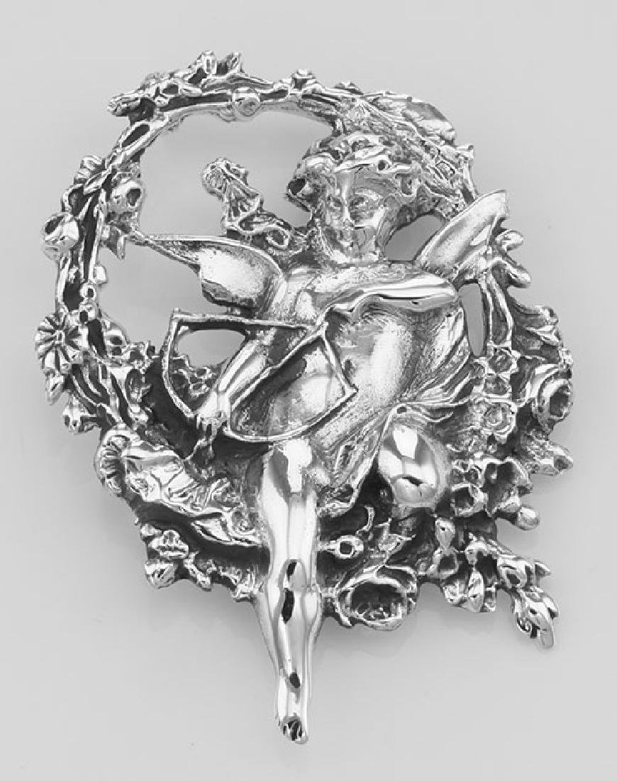 Cupid / Cherub Pin or Brooch or Pendant - Sterling Silv