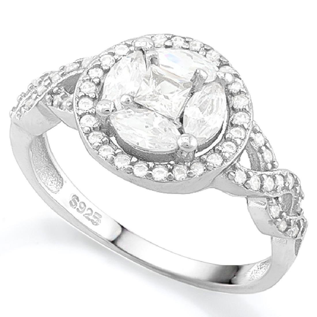 5 3/4 CARAT (57 PCS) FLAWLESS CREATED DIAMOND 925 STERL