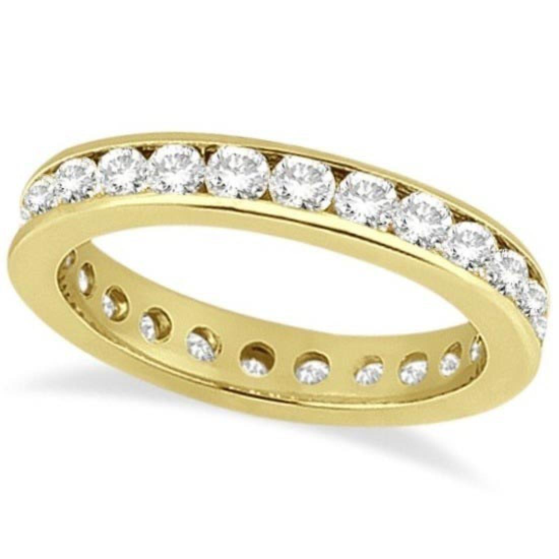 Channel-Set Diamond Eternity Ring Band 14k Yellow Gold