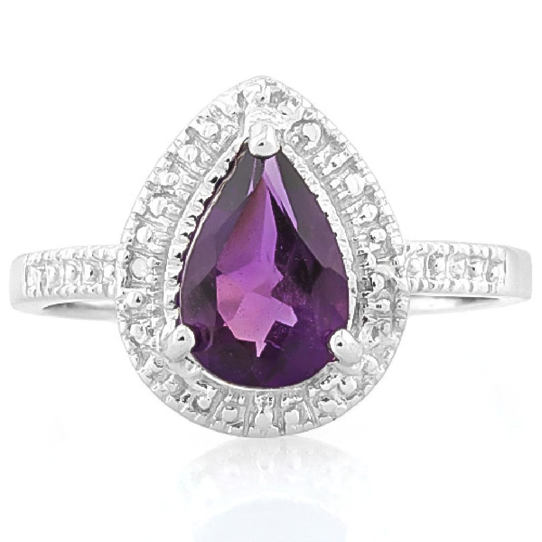 1.693 CARAT TW (3 PCS) AMETHYST & GENUINE DIAMOND PLATI