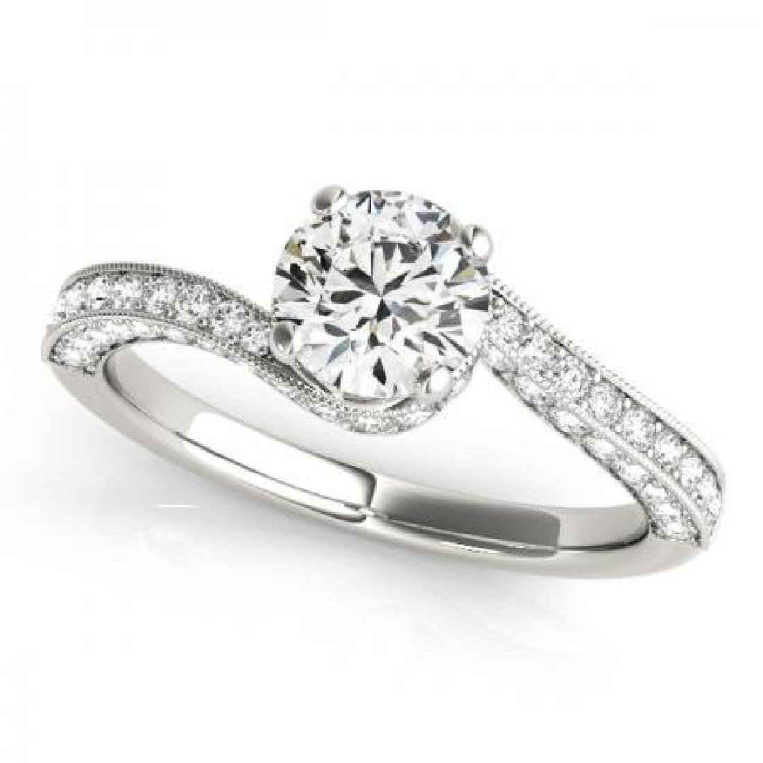 CERTIFIED 18KT WHITE GOLD 1.05 CT G-H/VS-SI1 DIAMOND EN