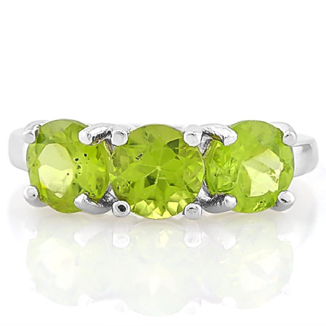 8 2/5 CARAT PERIDOT 925 STERLING SILVER RING