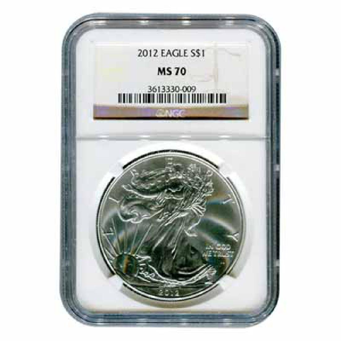 Certified Uncirculated Silver Eagle 2012 MS70