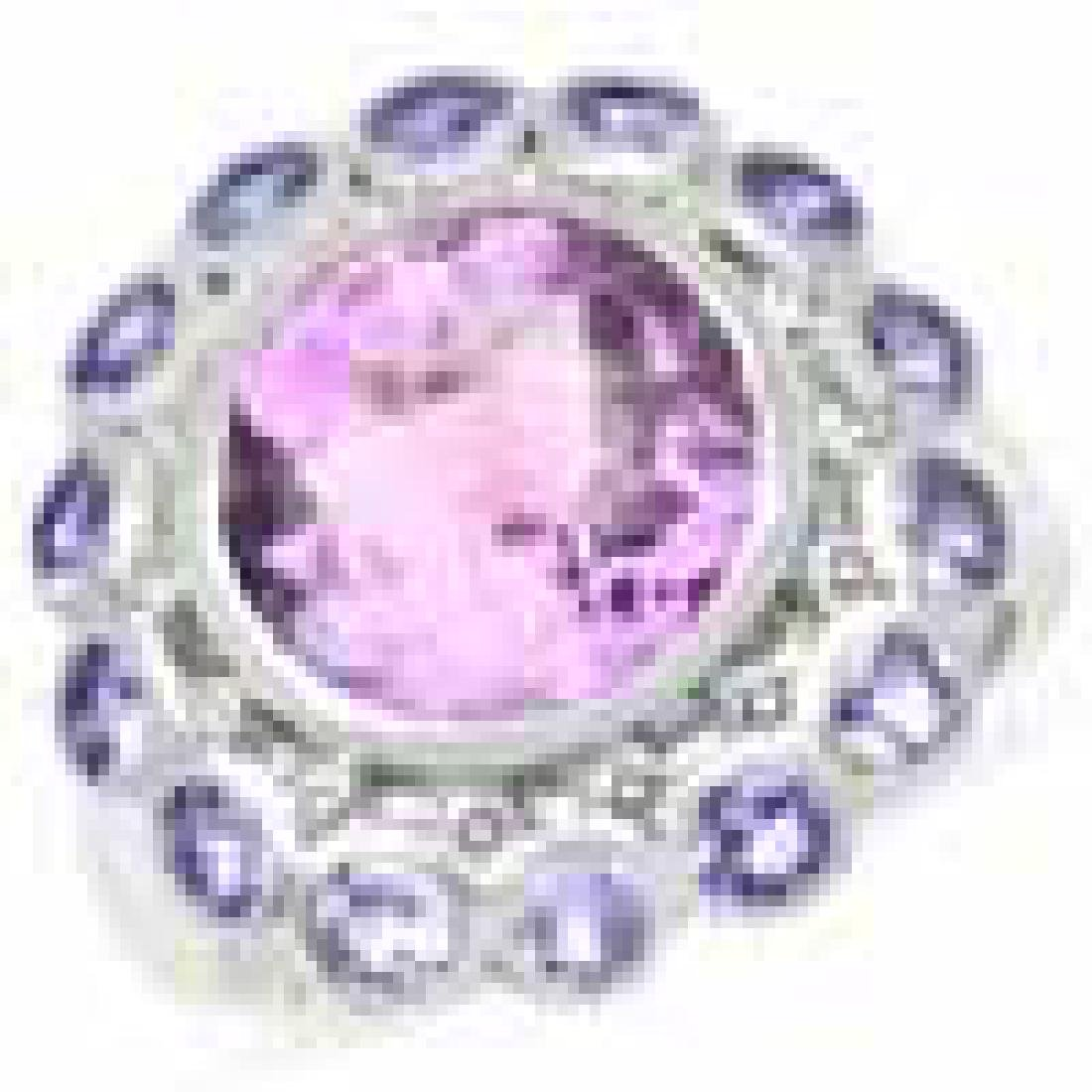 6.65 Carat Genuine Amethyst and Tanzanite .925 Sterling