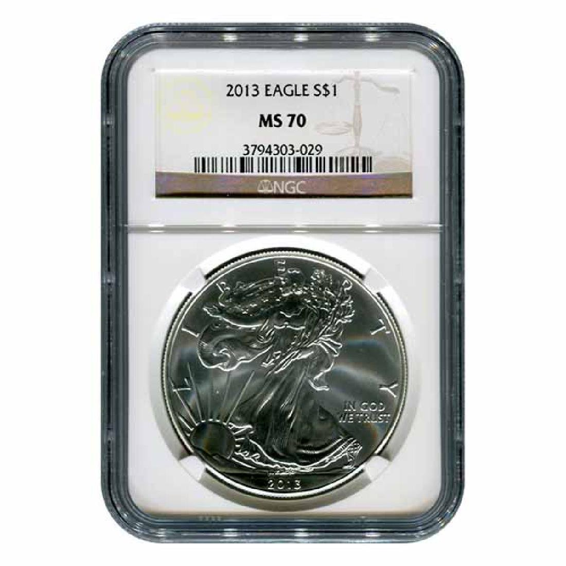 Certified Uncirculated Silver Eagle 2013 MS70 NGC