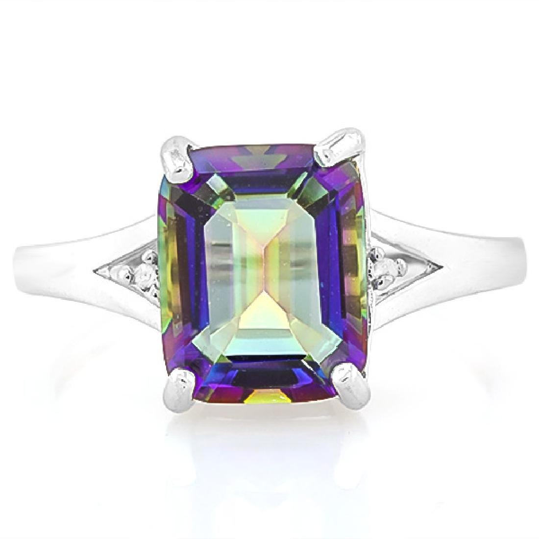 2 3/5 CARAT OCEAN MYSTIC GEMSTONE & DIAMOND 925 STERLIN