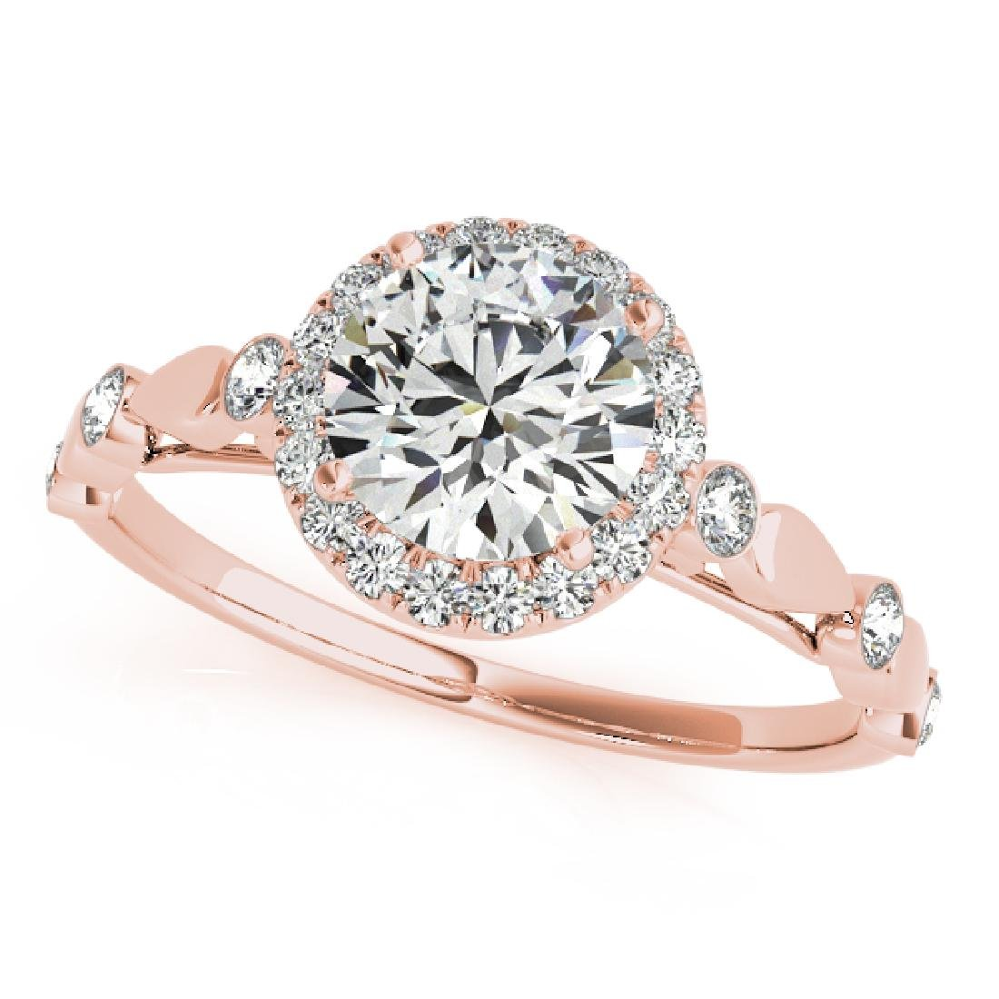 CERTIFIED 18K ROSE GOLD 1.56 CT G-H/VS-SI1 DIAMOND HALO