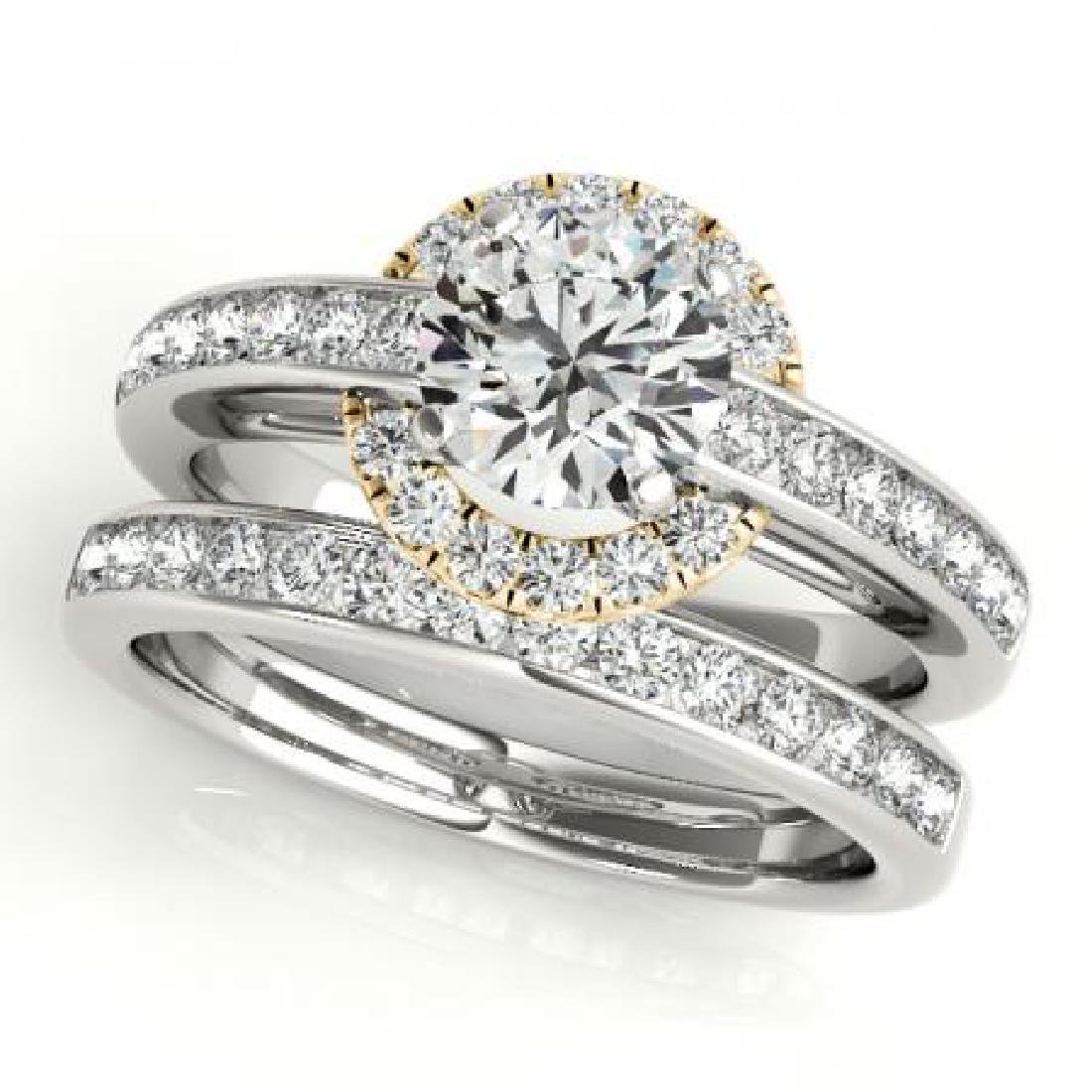 CERTIFIED 14KT TWO TONE GOLD 1.05 CT G-H/VS-SI1 DIAMOND