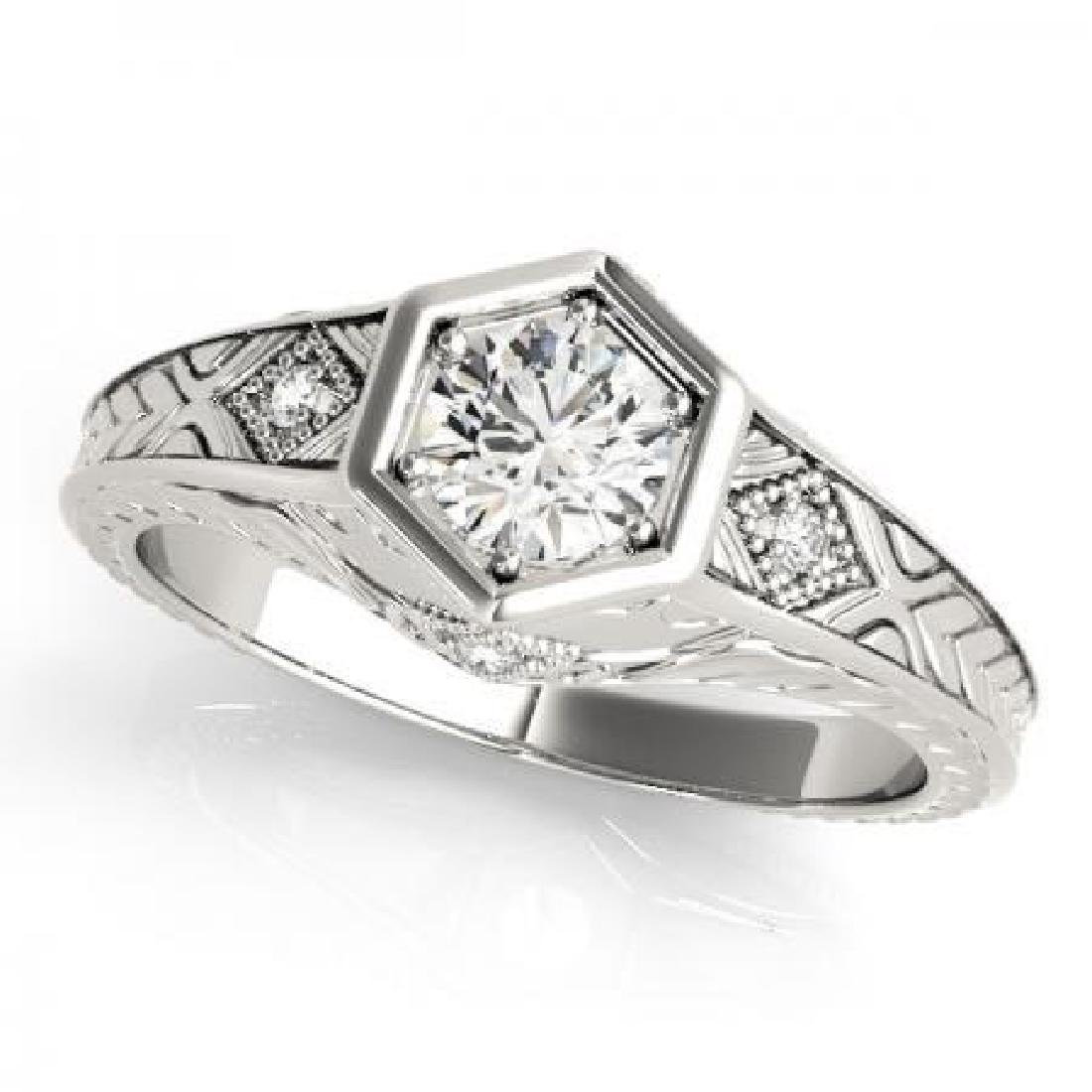 CERTIFIED 18KT WHITE GOLD 0.37 CT G-H/VS-SI1 DIAMOND EN