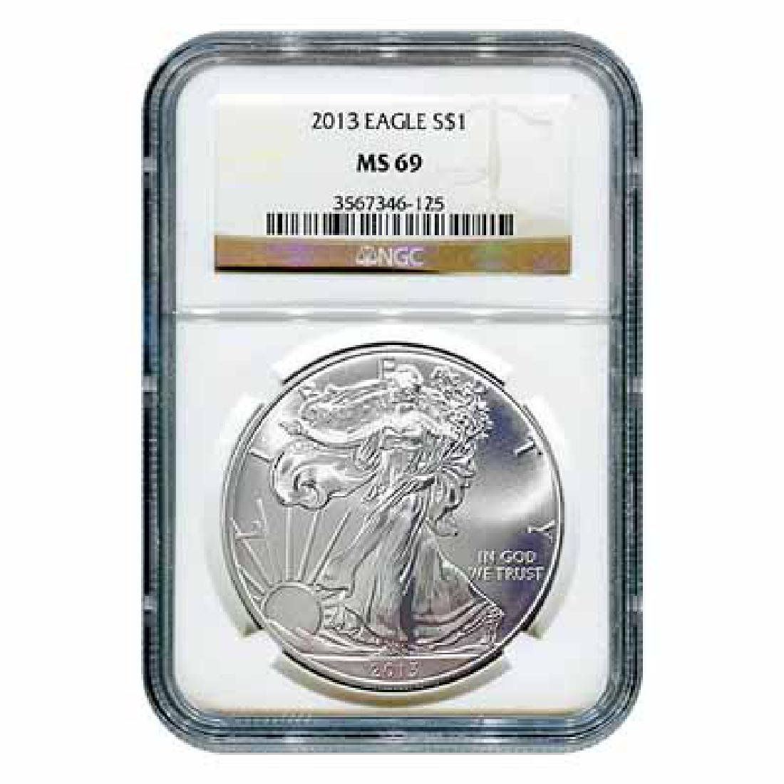 Certified Uncirculated Silver Eagle 2013 MS69 NGC