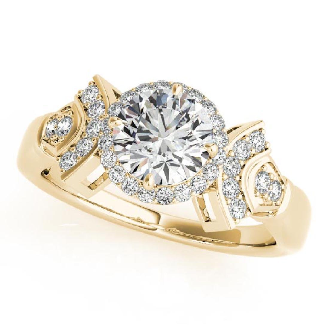 CERTIFIED 18K YELLOW GOLD .94 CT G-H/VS-SI1 DIAMOND HAL