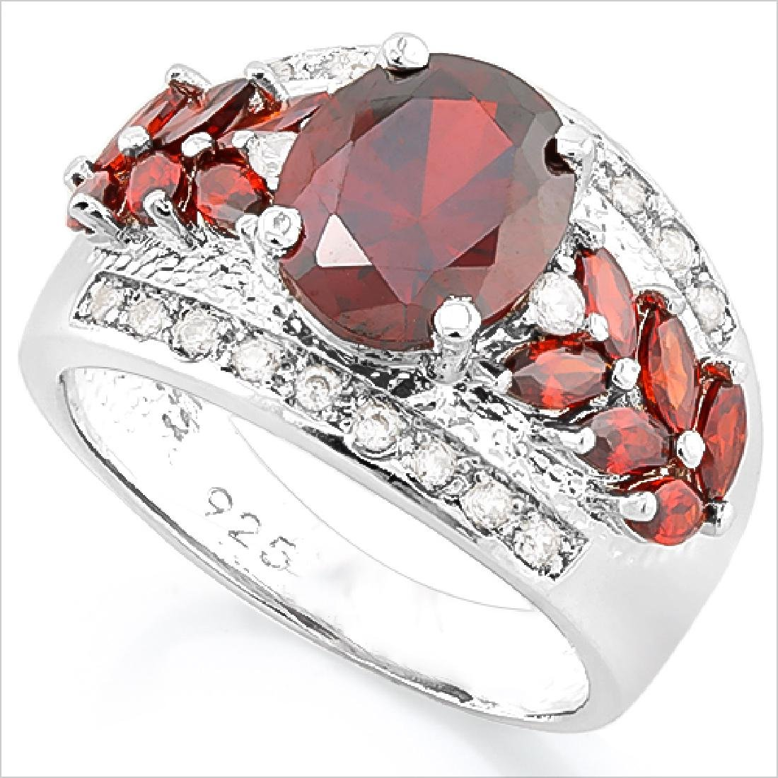CREATED RUBY 925 STERLING SILVER RING