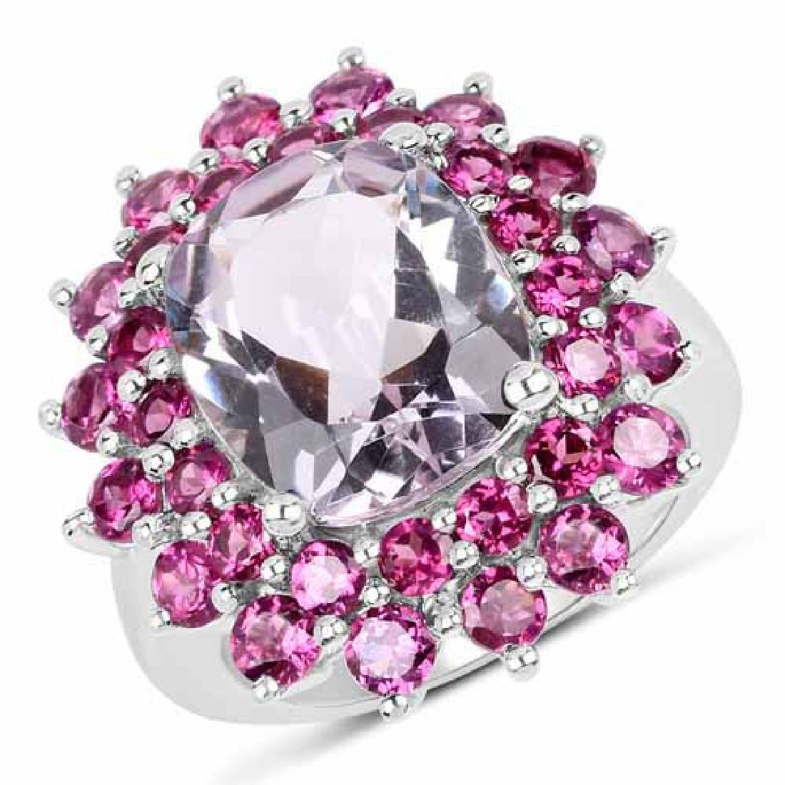 9.51 Carat Genuine Pink Amethyst and Rhodolite .925 Ste
