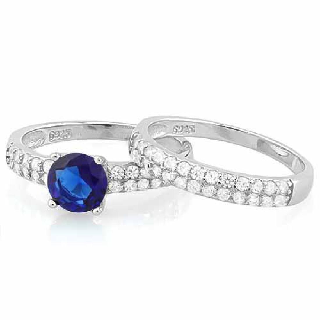 1 1/3 CARAT CREATED BLUE SAPPHIRE & 1/2 CARAT (52 PCS)