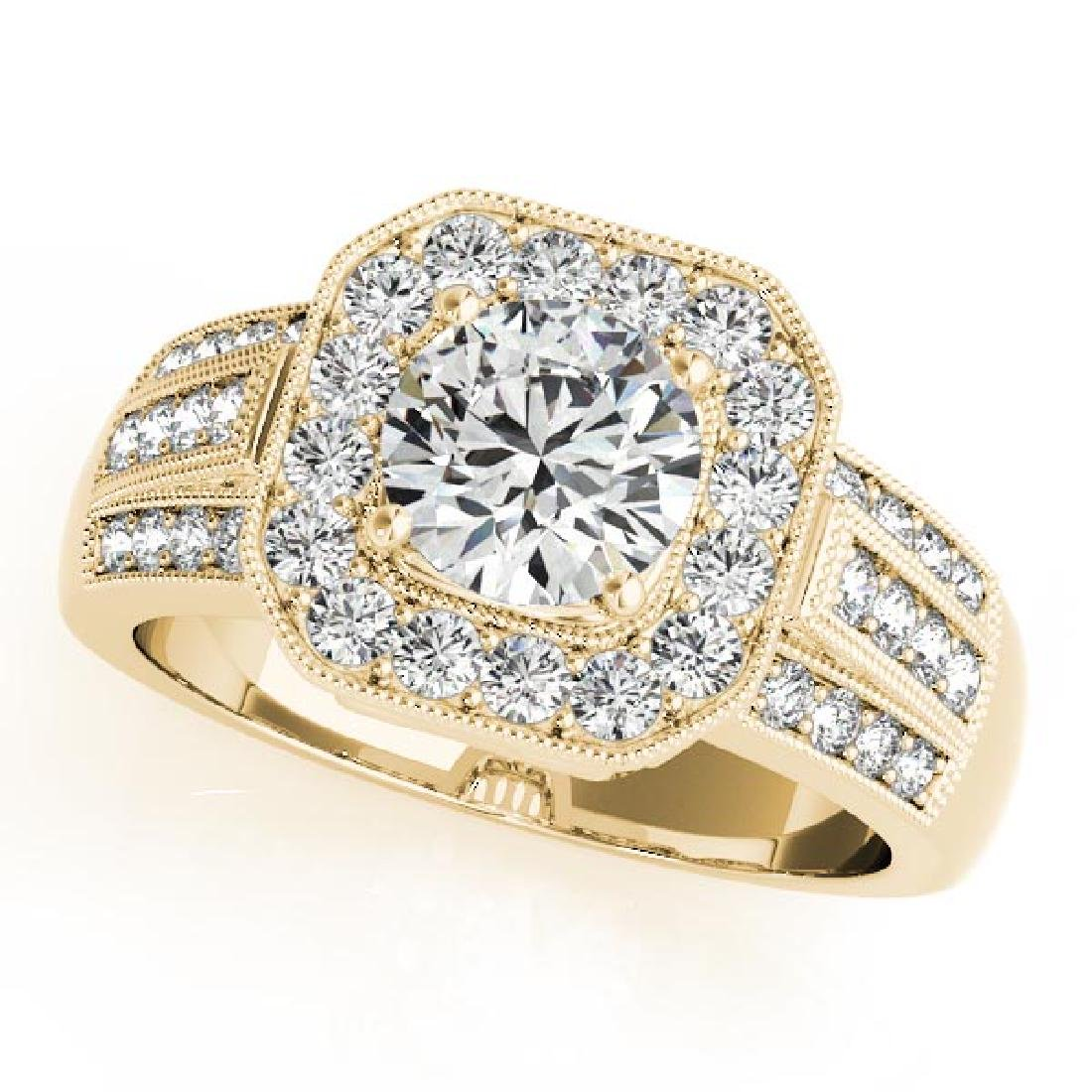 CERTIFIED 18K YELLOW GOLD 1.20 CT G-H/VS-SI1 DIAMOND HA